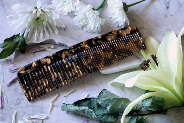 Black/Gold Granite Jumbo Styling Comb