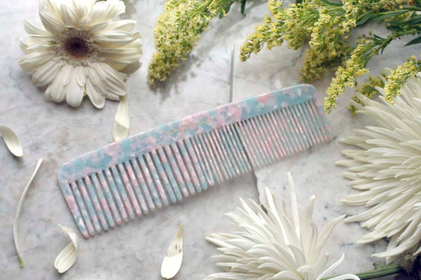 Icy Blue Granite Jumbo Styling Comb