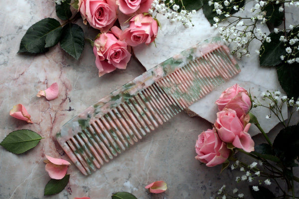 Pink/Green Granite Jumbo Styling Comb