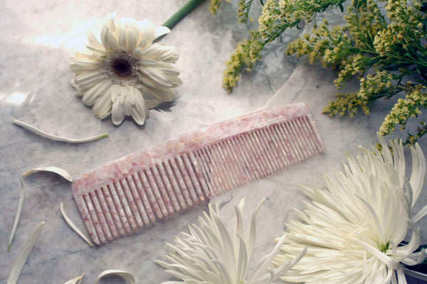 Rose Shell Granite Jumbo Styling Comb