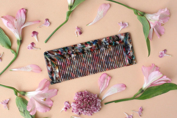 Black Abstract Luxe Styling Comb