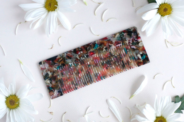Pink Abstract Luxe Styling Comb