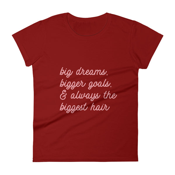 Big, Bigger, Biggest Women's Short Sleeve T-Shirt, Cranberry