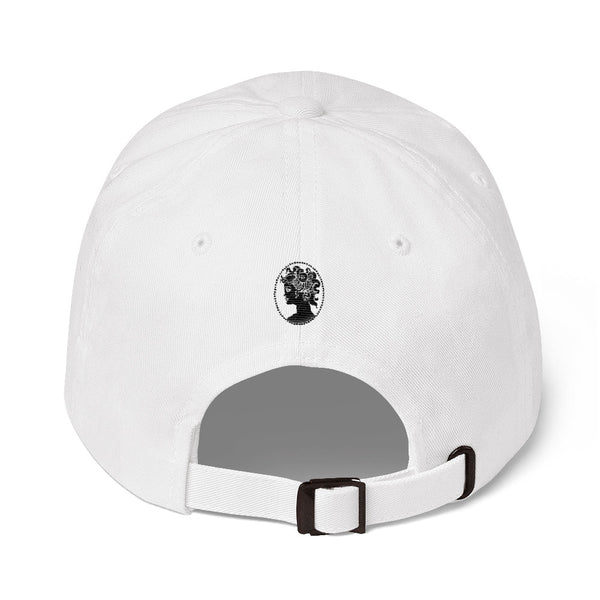 Mane Full Of Magic Cotton Fitted Cap, White