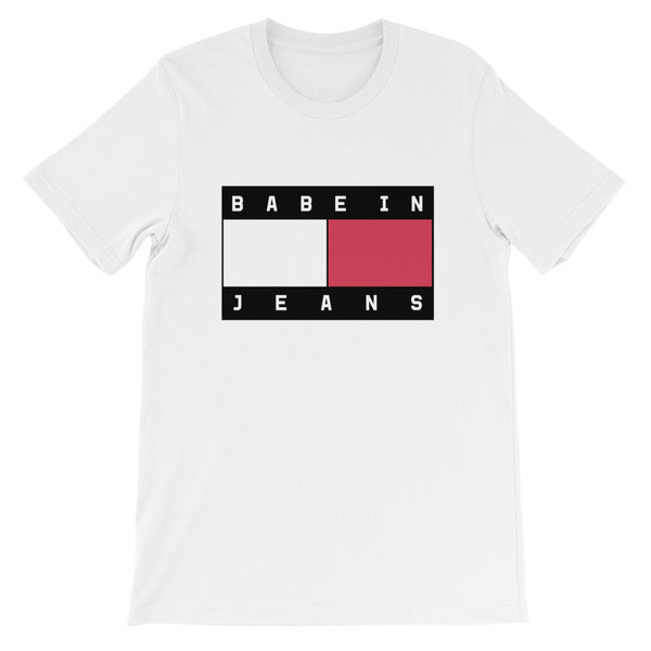 Babe In Jeans Short-Sleeve Unisex T-Shirt