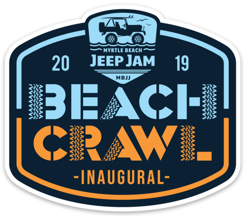 Beach Crawl Sticker