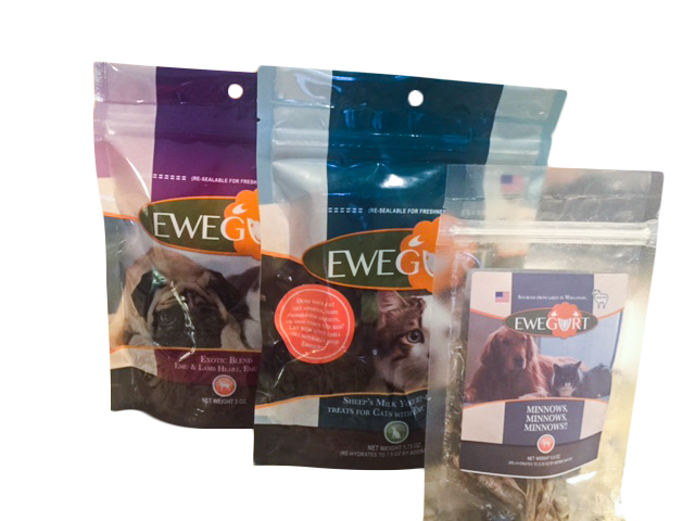 Kitty cat treats - minnows, emu and duck treats