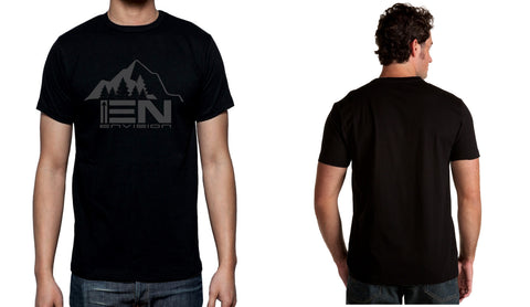 Men's Black Short Sleeve EN-Mountain-T-Shirt - WeAreEN