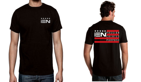 Men's Black Short Sleeve EN-Flag T-Shirt - WeAreEN