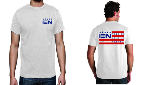 Men's White Short Sleeve EN-Flag T-Shirt - WeAreEN