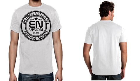 Men's White Short Sleeve EN-Circle T-Shirt - WeAreEN