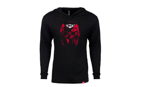 DT Gas Mask Hooded Long Sleeve T-Shirt