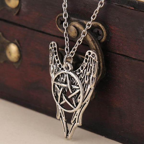 Angel Wings Pentagram Necklace