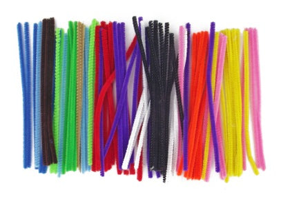 Acrylic Pipecleaners 15cm Asst pack 100