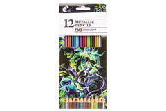 Chiltern Arts Metallic Pencils 12 Pack