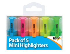 Mini Highlighters Pk 5