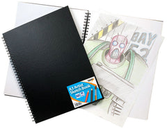 A3 T.Wire Sketch Book Black