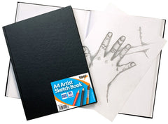 A4 Casebound Sketch Book Black