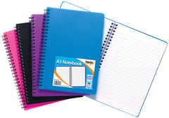 A5 PP Twin Wire Feint Notebook