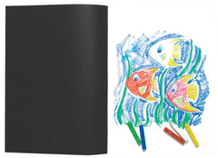 A3 Card Cover Sketch Book Black