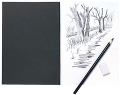 A5 Card Cover Sketch Book Black