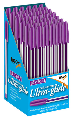 Ball Point Pens Box 50 Purple