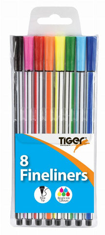 Fineliner-Pack 8 Bright Colours (12)