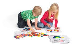 Plastic Pattern Blocks Set