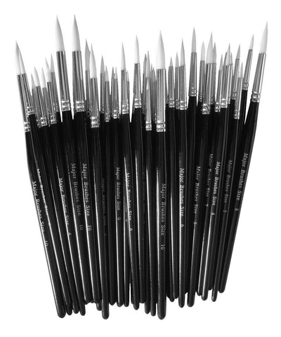 Synthetic Sable Paint Brushes Assorted Sizes Single