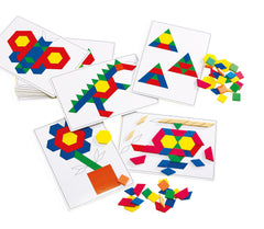 Basic Pattern Block Cards - Pk20