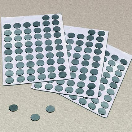 Self Adhesive Magnetic Rubber Dots
