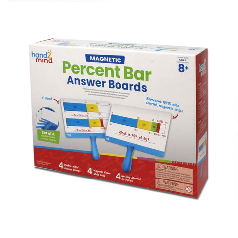 Percent Bar Answer Boards (Set Of 4)