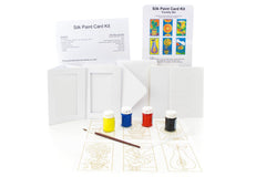 Silk Card Painting BOXED KIT Country Set
