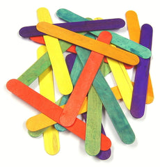 Coloured Lolly pop Sticks Jumbo