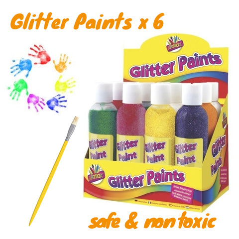 Set of 6 Glitter Paints