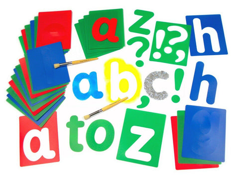 Large Alphabet Set of 27 Stencils Lower Case