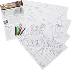 Medieval Educational Colouring Posters A3