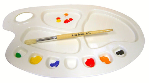 Large Kidney Shape 10 Well Artist Palette