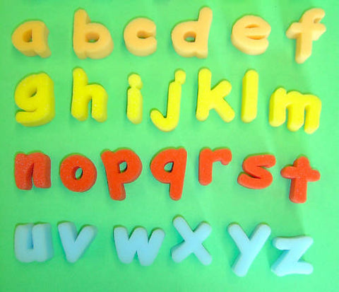 Foam lower case Letter Shapes Pack of 26