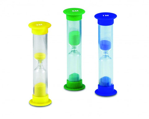 Set of 10 Invicta Mini Sand Timers 3 minutes
