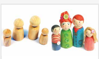 Wooden Peg Family