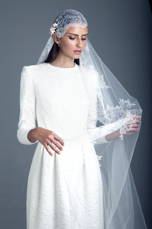 Bridal Veil and Hairpiece