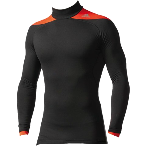 ADIDAS TECHFIT ClIMAHEAT 2.0 LONG SLEEVED MENS MOCK COMPRESSION TOP