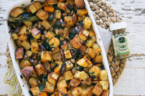 Thanksgiving Stuffing with Sausage and Cornbread