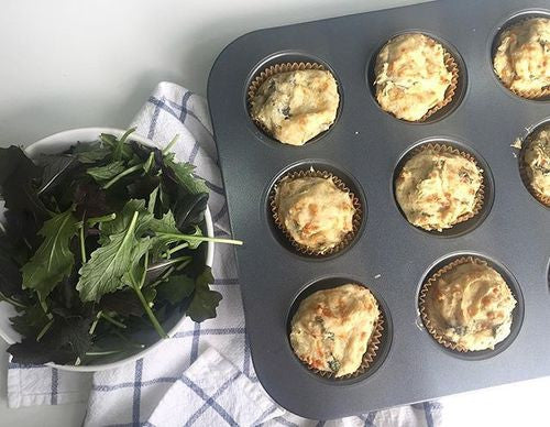 Spinach & Cheddar Savory Muffins