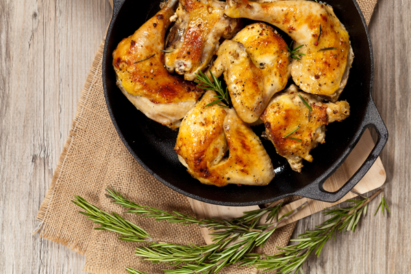 Roasted Rosemary Chicken with Butternut Squash Puree
