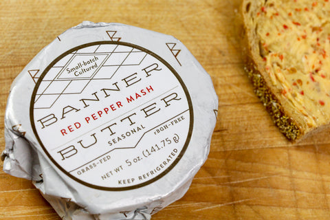 Red Pepper Mash Cultured Butter