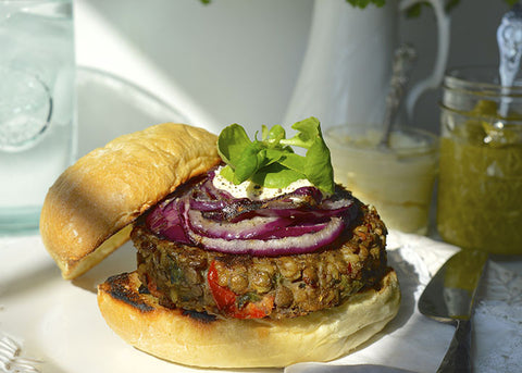 Sun-dried Tomato & Spinach Veggie Burger