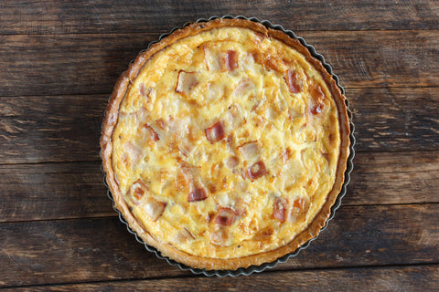 Bacon, Cheddar and Onion Quiche