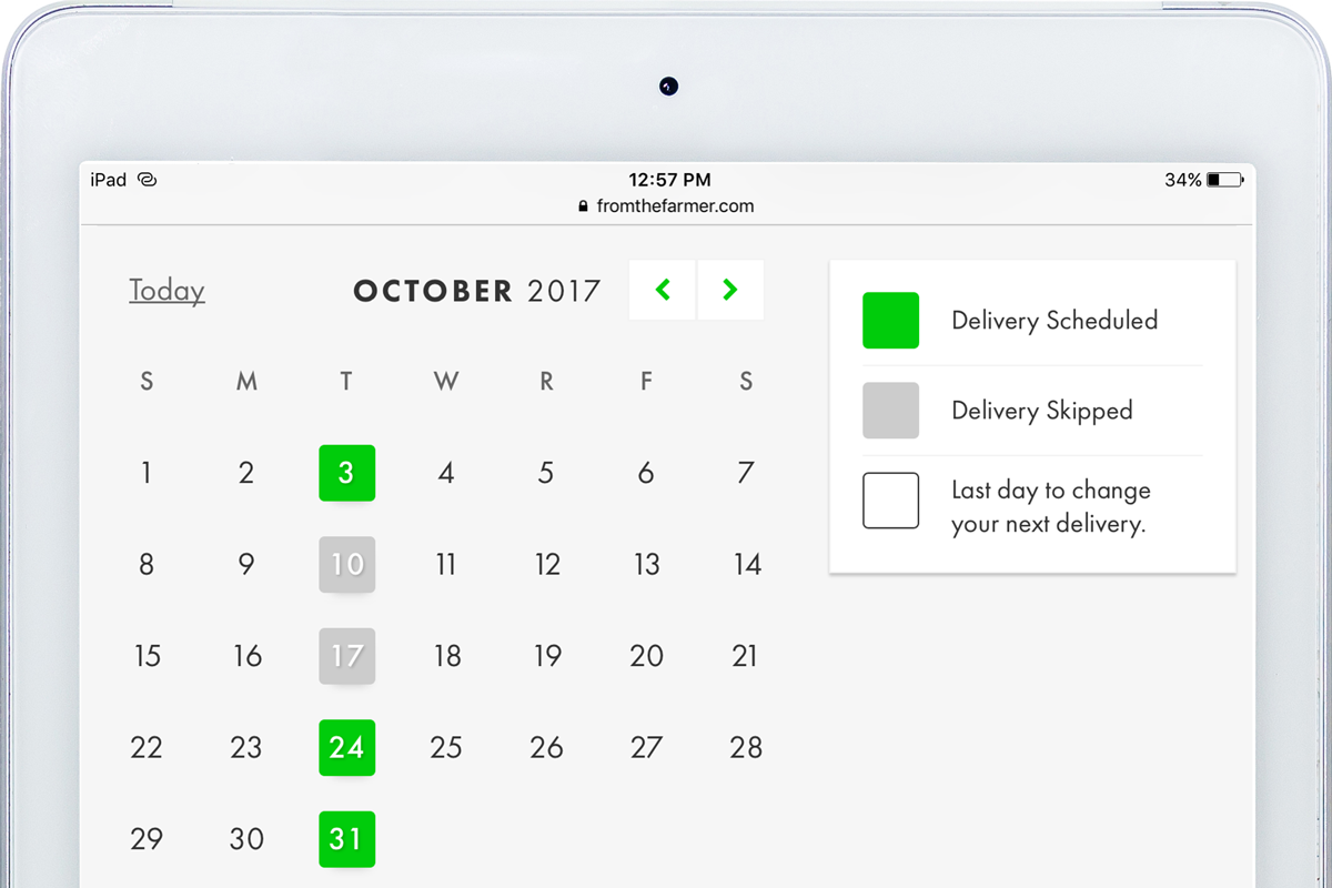 delivery schedule feature